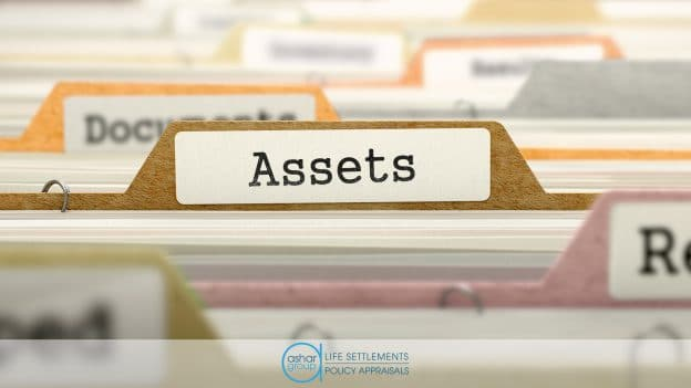 """File folder with """"assets"""" label in financial advisor's office"""