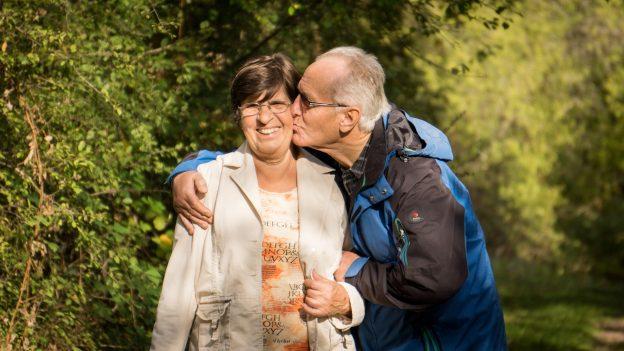 happy senior couple who've done longevity planning