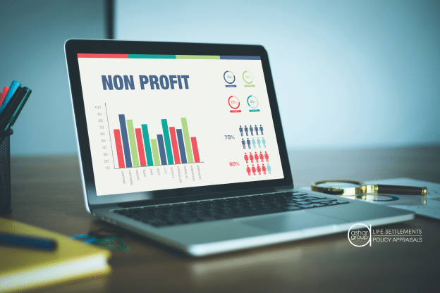 nonprofit charts on computer screen