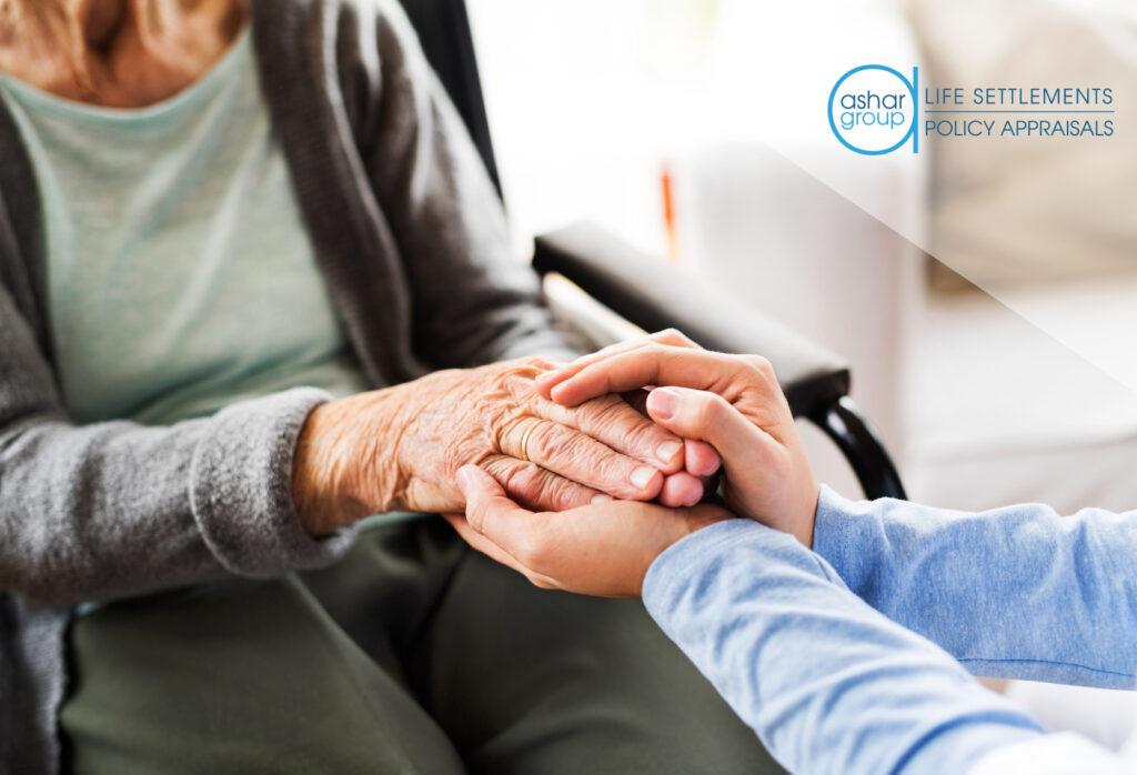 nurse providing care to elderly woman in nursing home
